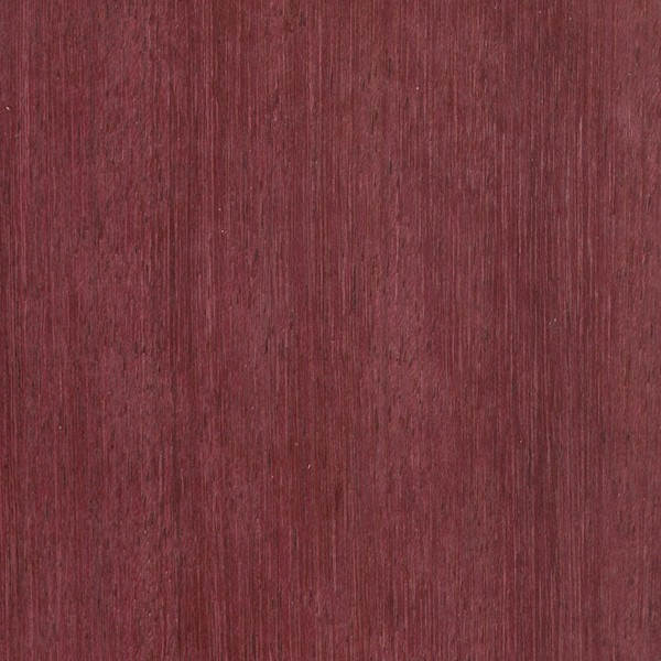 When freshly cut the heartwood of Purpleheart is a  dull grayish/purplish brown. Upon exposure the wood becomes a deeper eggplant purple. With further age and exposure to UV light, the wood becomes a dark brown with a hint of purple. This color-shift can be slowed and minimized by using a UV inhibiting finish on the wood.