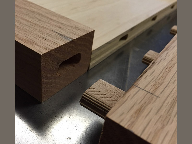 This is a good pic the shows the shape of the hole that is cut by the Domino Joiner.