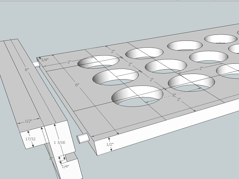 Here is a Sketchup design I made of what would later turn into a Kcup Holder.